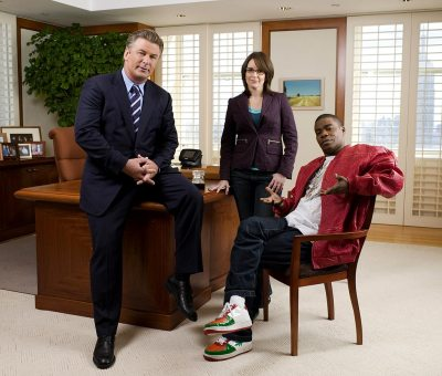 Alec Baldwin, Tina Fey and Tracy Jordan of 30 Rock